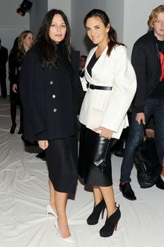 Calvin Klein Collection Front Row - Lisa Marie Fernandez and Laure Heriard Dubreuil