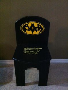 Batman Time-out chair - I made this for a friend.