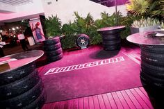 During the 2010 Super Bowl, Bridgestone stacked its tires to create highboys at the ESPN the Magazine Next Big...