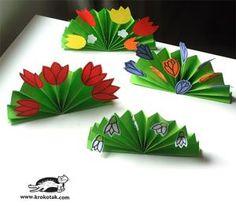 25 Fresh Paper Crafts for Spring: Paper Tulip Spring Table Decorations Kids Crafts, Quick Crafts, Spring Crafts For Kids, Crafts For Seniors, Crafts To Make, Art For Kids, Spring Bouquet, Spring Flowers, Flower Table Decorations