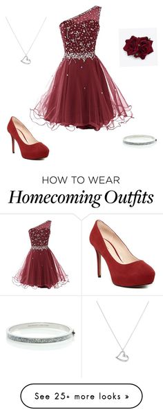 """""""Homecoming 2015"""" by alyssanaka on Polyvore featuring Nine West, Kate Spade and Argento Vivo"""