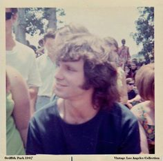 Now here's a Kodak moment! A candid snapshot of Jim Morrison at Griffith Park in 1967. And with a smile on his face too!