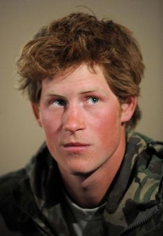 "prince harry: ...""sorry sir.  I promise I won't show up with sexy, unkempt hair again....""."