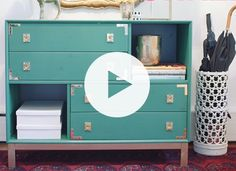 "An Easy DIY Hack for Your Ikea Furniture Browsing through Ikea hacks on Pinterest is admittedly one of your favorite pastimes. (""They made that from that?!"") Well, now it's your turn. Presenting a quick tutorial on how to turn the Ikea Nornäs dresser into a perfectly lacquered and brass-hardware-embellished foyer console. See how it's done."