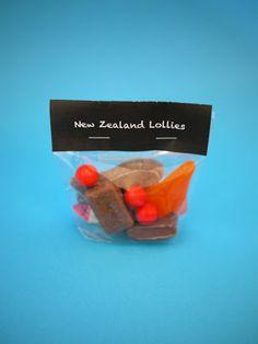 Kiwi Lollies Favor Bags