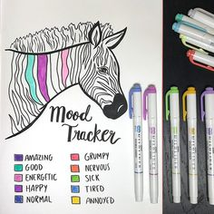 Cool Zebra mood tracker