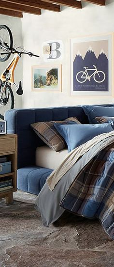 Canyon Plaid Boys Room Bedding