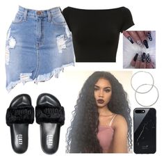 """Untitled #796"" by bosslanaia ❤ liked on Polyvore featuring Helmut Lang, Puma, Native Union and Forever 21"