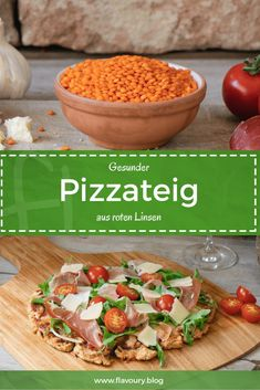 Pizza is a great comfy food, but unfortunately often not really healthy. On … – pizza Veggie Recipes, Gluten Free Recipes, Healthy Recipes, Pizza Recipes, Healthy Pizza Dough, Pasta Facil, Clean Eating, Healthy Eating, Pizza Hut