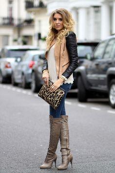 MINKPINK Sweater / ZARA leather jacket / ZARA jeans / HOBBS clutch / ACNE scarf / JOIE boots   Http://www.mungolife.fi