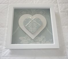 Beautiful Laura Ashley Josette Fabric Box Frame Picture / Heart in Duck Egg in Home, Furniture & DIY, Home Decor, Other Home Decor | eBay