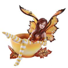 Amy Brown Autumn Comfort Cup Fairy