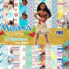 Moana digital paper Moana Princess Moana free clip art