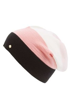 kate spade new york colorblock stripe beanie available at  Nordstrom Cool  Hats 5cbcd0ccd662