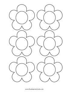 Flores Para Colorear Y Recortar - AZ Dibujos para colorear