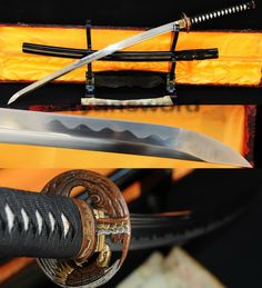 hand forged 1095 high carbon steel Japanese Samurai katana Sword SHARP