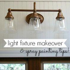 Light Fixture Makeover On Pinterest Redo Bathroom Vanities Painting Light Fixtures And