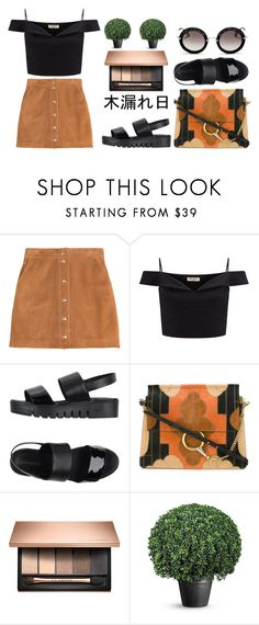 """""""Suede x Black"""" by ashola18 ❤ liked on Polyvore featuring Emilio Pucci, Lipsy, Jeffrey Campbell, Chloé, Miu Miu, Beauty, black and suede"""