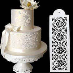 Birthday Cake Decorating, Cake Decorating Tools, Cake Decorating Techniques, Fondant Molds, Cake Mold, Fondant Cakes, Large Wedding Cakes, Extravagant Wedding Cakes, Blackberry Cake