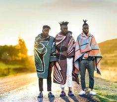 "afrikani: "" Lesotho, The tradition of wearing a Basotho blanket continues into the century. Image by: I SEE A DIFFERENT YOU - A trio collective from Soweto, portraying South Africa as they. African Print Fashion, Africa Fashion, South African Fashion, Ankara Fashion, African Prints, African Fabric, African Men, African Beauty, African Attire"