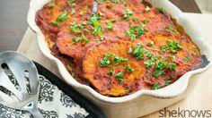 Baked Sicilian eggplant casserole is vegetarian comfort food at its finest