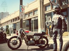 A man and his machine: Roy Griffith's 1972 Triumph Bonneville in Indianapolis.