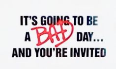 Michael Jackson Bad, Bad Day, Youre Invited, Calm, Sick Day