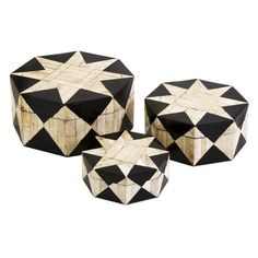 Dot & Bo Moroccan Star Boxes - Set of 3 (120 CAD) ❤ liked on Polyvore featuring home, home decor and star home decor