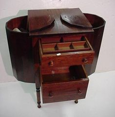 Early 1900s Martha Washington Sewing Cabinet/Table (after ...