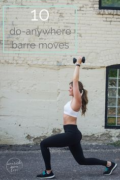 join the barre craze with this at-home, total body routine that will strengthen, lengthen, and tone. these 10 barre moves you can do without a barre are exactly what you'd see in my class at the studio. Full Body Kettlebell Workout, Ab Workout With Weights, Barre Moves, Barre Workouts, Studio Workouts, Butt Workouts, Pilates Workout, Post Pregnancy Workout, Pregnancy Fitness