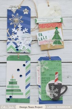 Lovely tags that can be converted into christmas cards.