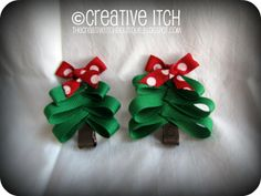hair bow ideas | bows and these christmas tree bows have been some of their favorites