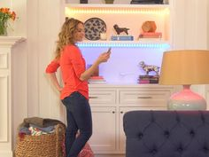 8 Tech Tools for Hosting a Party --- these Phillips Friends of Hue light strips are super cool! From HGTV Remodels