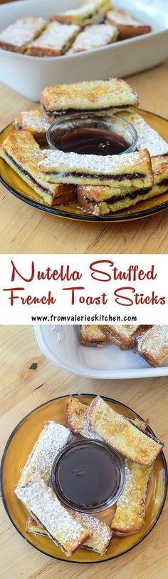 Eat them straight from the oven or freeze them and reheat in the microwave for a quick delicious breakfast! ~Eat them straight from the oven or freeze them and reheat in the microwave for a quick delicious breakfast! Breakfast Pancakes, Breakfast Time, Breakfast Recipes, Nutella Breakfast, Breakfast Ideas, Nutella Brownies, Food Trucks, Nutella French Toast, French Toast Sticks