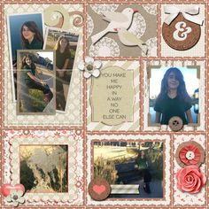 Pictures of my daughter.  Kit used:  Anita Designs' Lovebirds.  Template:  In Review: February by LissyKay Designs available at http://www.godigitalscrapbooking.com/shop/index.php?main_page=product_dnld_info&cPath=29_308&products_id=23613