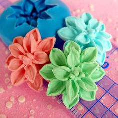 Open Flower Mold 24mm Silicone Flexible Mold by MiniatureSweet, $5.65