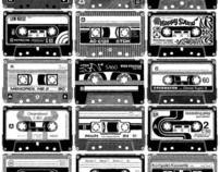 Mix Tapes-bulletin board idea