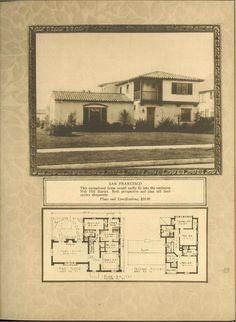 Homes of the Spanish type Spanish Exterior, Spanish Colonial Homes, Spanish Style Homes, Spanish House, Spanish Design, Spanish Revival, Vintage House Plans, Modern House Plans, House Floor Plans