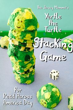 The Jersey Momma: Dr. Seuss Day Games for Read Across America: Yertle the Turtle Stacking Game
