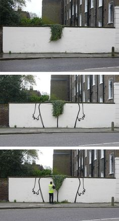 Bush is a new topiary art installation by Banksy in Canonbury, London