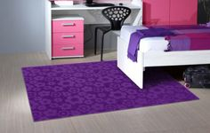 Garland Rug Flowers Area Rug, 5-Feet by 7-Feet, Purple - Childrens Rugs http://suliaszone.com/garland-rug-flowers-area-rug-5-feet-by-7-feet-purple/
