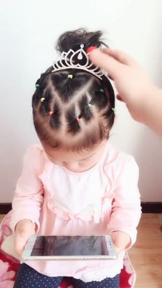 Toddler Hair Dos, Easy Toddler Hairstyles, Easy Little Girl Hairstyles, Girls Hairdos, Cute Hairstyles For Kids, Baby Girl Hairstyles, Easy Hairstyles, Infant Hairstyles, Hairstyle Tutorial
