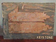 "$75 ( 16"" x 11 1/2"") #eastcoastupcyclers #pennsylvania #keystonestate #pennsylvaniart"