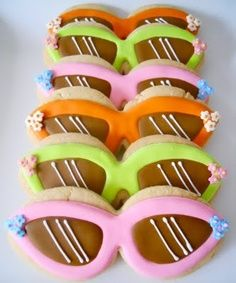 colorful sunglasses cookies