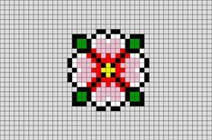 Spring Flower Pixel Art from BrikBook.com #SpringFlower #flower #bloom #blossom #pretty #pixel #pixelart #8bit Shop more designs at http://www.brikbook.com
