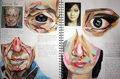 An Art sketchbook page by Lucy Luu. a level art sketchbook ideas - artist researcha level art sketchbook page, beautiful in its simplicity: devoid of superfluous decoration, a dedicated and committed student learning a technique from an artist and th Kunst Portfolio, Illustration Arte, Art Illustrations, Medical Illustration, Art Et Architecture, Gcse Art Sketchbook, A Level Art Sketchbook Layout, Sketchbook Inspiration, Sketchbook Ideas