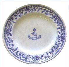 China plate from the Lusitania ship wreck