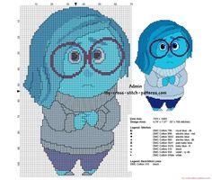 Sadness Disney Inside Out free cross stitch pattern