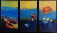 Abstract Painting by Sadhana Raddi at Pradarshak