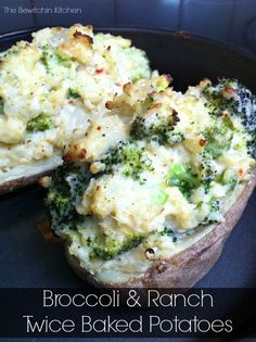 I have an awesome recipe for broccoli & spicy ranch Twice Baked Potatoes. This recipe will make the perfect side dish for your summer BBQ.